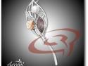 Accent Bijuterii - Broşă din argint cu perlă de cultură, coral roz şi cacoxenite VP6876_3