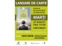 """LANSARE DE CARTE CARITABILA - """"Jurnal de bancher pe drumuri"""""""
