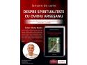 """Lansare de carte: """"Despre spiritualitate cu Ovidiu Dragos Argesanu"""""""