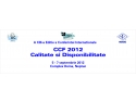Conferinta Internationala Calitate si Disponibilitate – CCF 2012