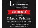 Nu rata Vinerea Neagra a reducerilor in magazinul online La Femme