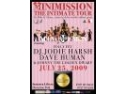 MANUMISSION PREZINTA: MINIMISSION  IN LE GAGA TERRACE & LOUNGE, SAMBATA, 25 IULIE