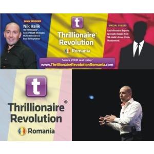 Conferinta Thrillionaire Revolution Romania Eveniment Dezvoltare Personala cu Nik Halik