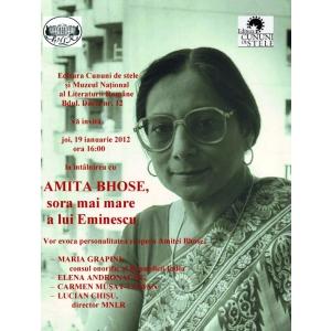 Amita Bhose, sora mai mare a lui Eminescu