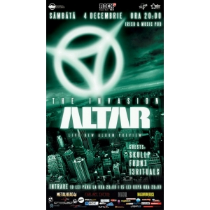 [4 DEC] ALTAR LIVE @ CLUJ IRISH&MUSIC PUB - THE INVASION!