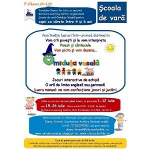 Programul de Vară Omiduţa Veselă pentru copii cu vârste cuprinse între 4 şi 6 ani