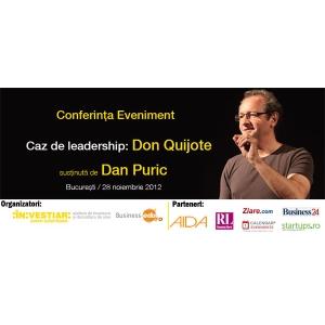 Mai sunt 2 saptamani pana la Conferinta Eveniment sustinuta de Dan Puric!