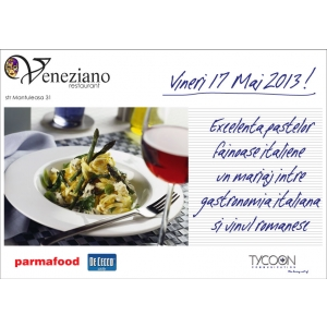 Excelenta pastelor fainoase italiene, un mariaj intre gastronomia italiana si vinul romanesc