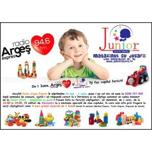 De 1 iunie, Junior Store şi Radio Argeş Expres îţi fac copilul fericit