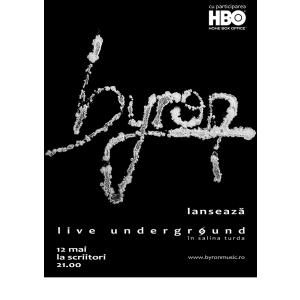 byron lanseaza DVD-ul Live Underground la Targoviste pe 12 mai