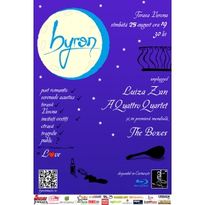 byron canta unplugged pe Terasa Verona alaturi de Luiza Zan, A Quattro Quartet si The Boxes