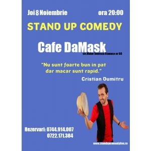 Stand Up Comedy Bucuresti Joi 8 Noiembrie Caffe Damask
