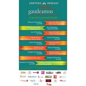 Evenimente Editura Herald la Targul de Carte Gaudeamus