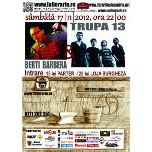 Concert live Berti Barbera și Trupa 13