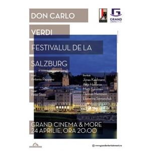 Opera Don Carlo, va fi difuzată la Grand Cinema & More astazi, 24 aprilie, începând cu ora 20:00