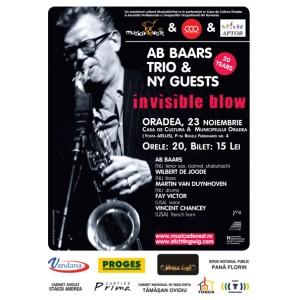 Ab Baars Trio & New York Guests - Premiera absoluta in Romania