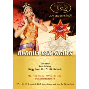 Sambata, 3 Decembrie, Buddha Bar Night – Violet Theme, la TAJ Restaurant!