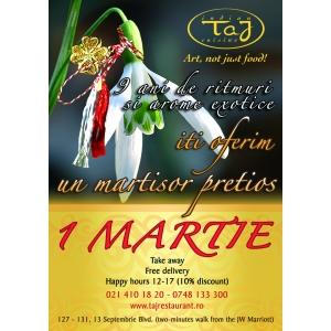 Sarbatorim 1 Martie, la Taj Restaurant!
