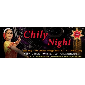 Prima Editie Chily Night 2014, Sambata, 11 Ianuarie la TAJ Restaurant!