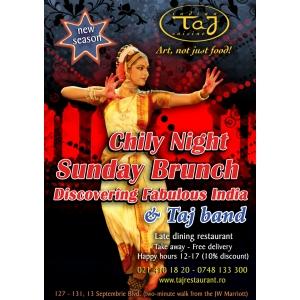 Un nou sezon la Taj Restaurant debuteaza  Sambata 4 Octombrie