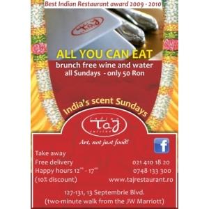 Sunday Brunch la Taj Restaurant!