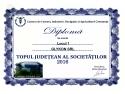 Diploma Topul Județean al Societăților 2016