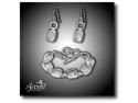 bijuterii murano. Accent Bijuterii - Set din argint cu cuarţ de stâncă