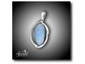 accesorii si bijuterii diafane. Accent Bijuterii - pandantiv din argint cu opal preţios natural