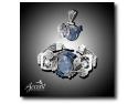 bijuterii aur. Accent Bijuterii - Set brățară și pandantiv cu bleu topaz, cianit și lapis lazuli