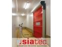 Siatec. Prima ușă rapidă lavabilă din România