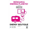 green energy. Asociatia Sistemul National de Reciclare a Bateriilor aduce Energy Boutique pe VIA SPORT