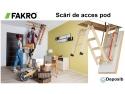 Solutii profesionale pentru accesul la pod - scarile Fakro de la Deposib vile ieftine