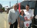 ajutor umanitare. Deputatul Dan-Radu Zatreanu impreuna cu un donator in cea de-a patra campanie de donare de sange