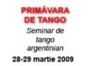 targ pescuit primavara. Primavara de Tango