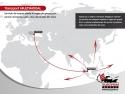 grupaje. Harta serviciului de grupaj export din Constanta
