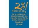 2 % pentru susţinerea taberelor de voluntariat!