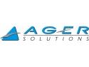 in business solutions. AGER Solutions a realizat cea mai mare cifră de afaceri pe segmentul Microsoft® Business Solutions