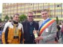 Michel. Michel Turk, preşedintele Uniunii Motocicliştilor din Luxembourg s-a întâlnit cu primarul Daniel Thellmann