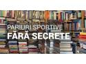 reducere de carte. Lansare de carte în București: Pariuri Sportive fără secrete