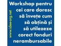 finantari nerambursabile. Workshop de perfectionare -