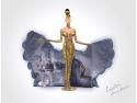 Costum de inspiratie nationala pentru Miss Universe 2012