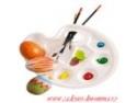 Bucurie  si un Iepuras doldora de cadouri din inima! Cadouri deosebite de Paste oferite de www.cadouri-din-inima.ro