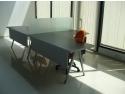 Mobila birou - birou cu picioare metalice