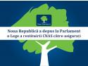 Noua Republică a depus la Parlament o Lege a restituirii CNAS către asigurați