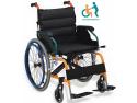 saltele ortopedice. Fotolii rulante manual sau scaun cu rotile cu greutate redusa
