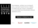 graphic design. Noblesse Interiors, partener Elle Decoration Romanian Design Awards 2016