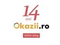Okazii.ro împlineşte astăzi 14 ani de activitate - Mulţumim tuturor românilor care ne sunt alături încă din anul 2000