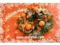 Specialitatea casei: coronite din brad natural cu scortisoara, conuri pudrate cu zapada, atentie pentru detaliu, nuci poleite, placerea de a crea, portocale uscate si numai ganduri bune.