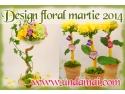 buchete creative. Flori si cadouri CREATIVE pentru 1 si 8 martie 2014