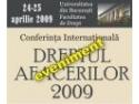 """Conferinta Internationala """"Dreptul Afacerilor 20 09 - Dreptul si criza""""  - Mecanisme de preventie a insolventei"""